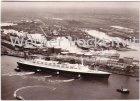 Ansichtskarte Bremerhaven Columbuskai mit der FRANCE Luftbild