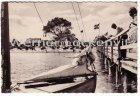 Ansichtskarte Dahme in Holstein Blick vom Steg auf Strand und Gebäude