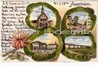 Ansichtskarte 61194 Niddatal-Assenheim Schloss Vorstadt Eisenbahnbrücke Kleeblattlitho