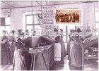 Maximumkarte 125 Jahre Lette-Verein Frauenbewegung Setzerinnenschule