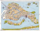 Ansichtskarte Cartolina Italia Venezia Venedig Albergo Gabrielli Sandwirth Bes. A. Perkhofer Landkarte maps