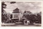 Ansichtskarte Berlin-Tiergarten-Moabit Skagerrakplatz mit Haus am Tiergarten und Denkmal