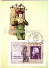 Maximumkarte 200. Todestag von W.A. Mozart Zauberflöte Papageno Kostümzeichnug