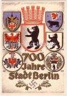 Ansichtskarte Berlin 700 Jahre Stadt Festpostkarte mit Wappen