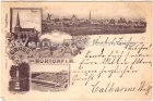 Ansichtskarte Nortorf Panorama Holsatia Brauerei Bahnhof Kirche