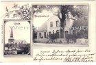 Alte Ansichtskarte Nortorf mehrfach Hauptpastorat und Kirche