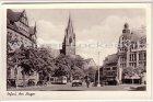 Ansichtskarte Erfurt Am Anger mit Straßenbahn