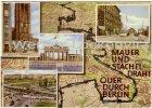 Ansichtskarte Berlin Mauer und Stacheldraht mehrfach Grenze