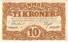 Dänemark Danmark Banknote Ti Kroner 10 Kronen von 1943 fast kassenfrisch