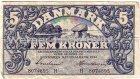 Fem Kroner 5 Kronen von 1942 Banknote Danmark
