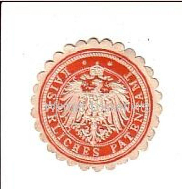 Siegelmarke Kaiserliches Patentamt Siegelmarken