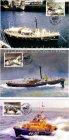 Kanalinseln Jersey Maximumkarten Royal Visit Seerettung 5 Karten Seenot Maximumkarte