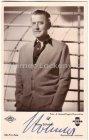 """Ansichtskarte Autogrammkarte Hans Söhnker mit Original-Autogramm in dem Film """"Ein Leben für Do"""""""
