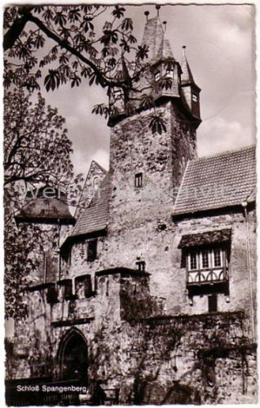 Ansichtskarte Spangenberg in Hessen Schloß Spangenberg Jagdschloß ehemalige Forstschule