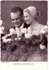 Ansichtskarte Monaco Fürst Rainier und Fürstin Gracia nach der Ziviltrauung Adel