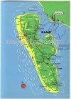 Ansichtskarte Dänemark Danmark Fanoe Fanö Landkarte maps