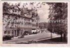 Ansichtskarte Kiel Schloßgarten mit Holsts Hotel und Fahrzeug von Ernst Dittmer Kartoffel-Großhandlung Lerchenstraße Blick zur Hegewischstraße