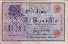 Banknote Ein Hundert Mark Reichsbanknote von 1908