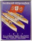 Seedienst Ostpreußen von 1937 Fahrplan kleines Heftchen mit 66 Seiten Schiffe