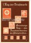 Ansichtskarte Berlin 1. Tag der Briefmarke Gründungstag des Reichsverbandes der Philatelisten 1936