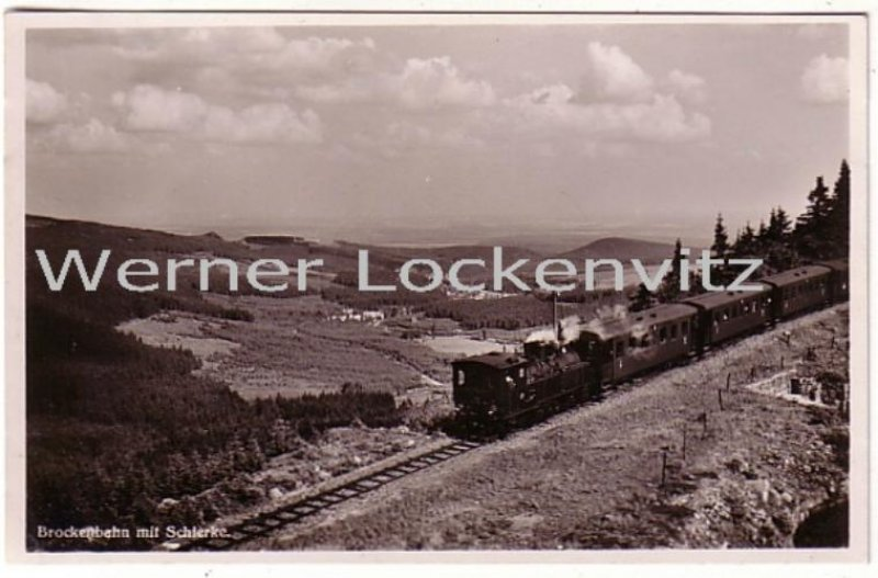 Ansichtskarte Brocken Brockenbahn mit Schierke Schmalspurbahn