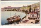Alte Ansichtskarte Schweiz Montreux Le Quai et le debarcadere mit Dampfer Schiffe Waadt