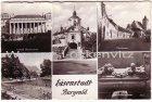 Ansichtskarte Österreich Eisenstadt Pfarrgasse Parkbad Haydnkirche Burgenland