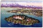 Alte Ansichtskarte Insel Mainau im Bodensee und Stadt Konstanz