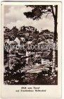 Ansichtskarte Woltersdorf bei Erkner Blick vom Kanal aus auf das Krankenhaus