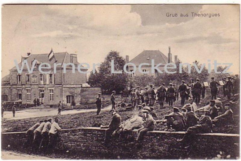 Ansichtskarte Carte Postale Frankreich France Thenorgues Deutsche Soldaten Champagne Ardenne
