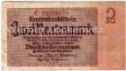 Banknote Zwei Rentenmark von 1923