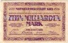 Kiel Notgeld der Stadt Kiel Zehn Milliarden Mark