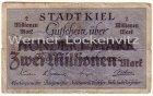 Kiel Notgeld der Stadt Kiel Zwei Millionen auf 100 Mark