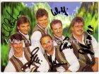 Ansichtskarte Autogrammkarte Österreich Die Jungen Klostertaler mit Original-Autogrammen