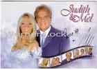 Ansichtskarte Autogrammkarte Judith und Mel mit Originalautogramm Gesangsduo Musik