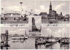Ansichtskarte Kiel Binnenhafen Laboe Hafen Rathaus Ostseehalle mehrfach