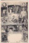 Alte Ansichtskarte Bayreuth Erinnerung an die König Ludwigs Aufführungen der Bayreuther Nibelungen 1876