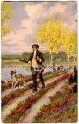 Ansichtskarte Paul Hey Im Wald und auf der Heide Nr. 13 Jäger Jagd