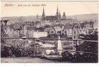 Alte Ansichtskarte Aachen Blick von der Ludwigs-Allee auf die Stadt