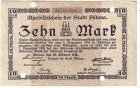 Hamburg-Altona Zehn Mark Aushilfschein 1918 Banknote