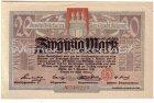 Hamburg-Altona Zwanzig Mark Aushilfschein 1918 Banknote