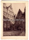 Alte Ansichtskarte Bremen Bötcherstrasse Original-Radierung von Fritz Kück
