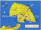Ansichtskarte Fehmarn Landkarte maps