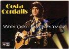 Ansichtskarte Autogrammkarte Costa Cordalis Schlagersänger mit Originalautogramm