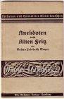 Anekdoten vom Alten Fritz von Gustav Friedrich Meyer Heimatforscher Plattdeutsch