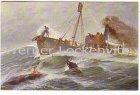 Alte Ansichtskarte Walfischdampfer beim Fang Gemälde von Christopher Rave