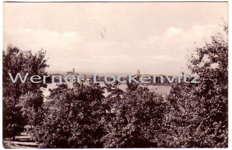 Ansichtskarte Parchim Blick über den Wocker-See