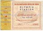 Berlin Olympiade 1936 Eintrittskarte Eröffnungsfeier