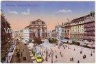 Ansichtskarte Brüssel Bruxelles Place de Brouekere Feldpost Kommando Feldluft Briefstempel Namur