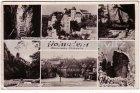 Ansichtskarte Hohnstein Jugendburg Markt Brandscheibe